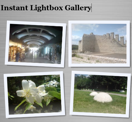 Instant + LightBox Gallery